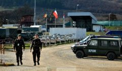 camp hongrois de la Kfor (crédit : Ministère hongrois de la Défense)