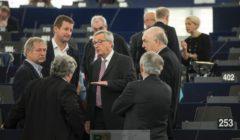 Jean-Claude Juncker explique son plan aux eurodéputés verts (crédit : CE)