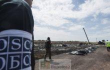 Les observateurs de lOSCE sur le site du crash du MH17 (crédit : OSCE)