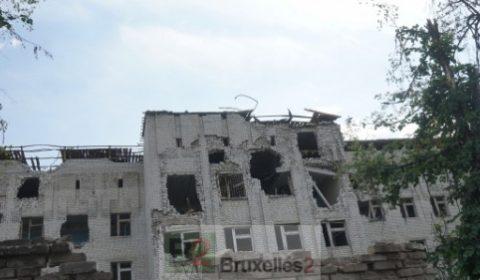 Dans la ville de Slavyansk à lest de lUkraine (crédit : UE / ECHO)