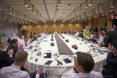 """Les chefs d'Etat et de gouvernement adorent la politique de """"sanctions"""", facile et pas trop chère. Mais les preuves manquent (crédit : Conseil de l'UE)"""