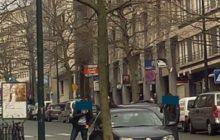 La police belge est sur les dents. Ici, un véhicule