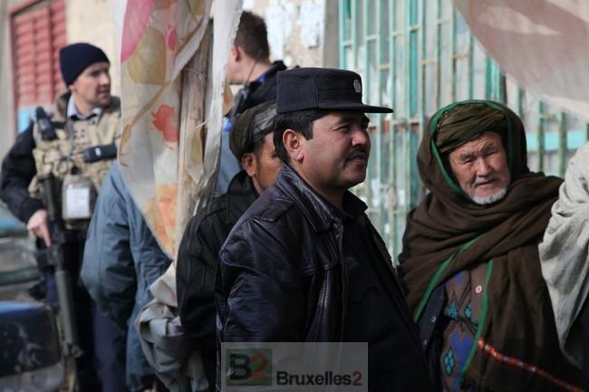 L'Europe longtemps centrée sur le risque en Afghanistan va devoir apprendre à vivre avec un risque beaucoup plus proche - patrouille conjointe à Mazar e Charif (crédit: EUPOL Afghanistan)