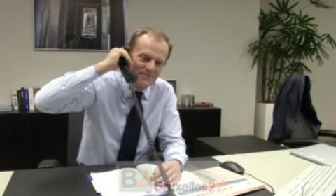 Donald a oublié dutiliser le téléphone pour appeler Athènes (crédit : Conseil européen)
