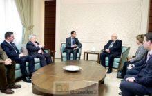 Les députés français avec Bachar el Assad (source : agence officielle syrienne de presse / SANA)