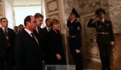 le couple franco-allemand à leur arrivée à Minsk