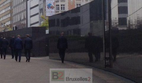 Donald Tusk en visite discrète à la Commission quelques jours avant sa prise de fonction (© NGV /B2)