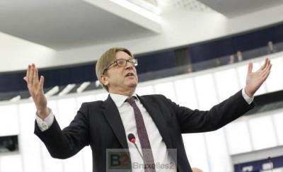 G. Verhofstadt à la dernière session plénière (crédit : PE)