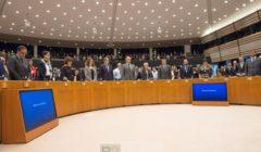 Minute de silence au Parlement européen (crédit : PE)