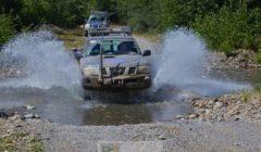 véhicules dEUMM Georgia en déplacement (crédit : EUMM Georgia)