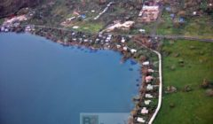 Une vue aérienne de lile (Crédit : Etat-major des armées / Armée de Terre)