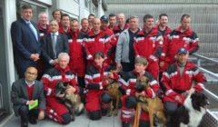 Equipe de secours de la B-Fast avant départ (crédit : ministère belge de lIntérieur)