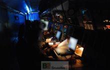 A lintérieur dun avion de surveillance Atlantique 2 (crédit : MOD France)