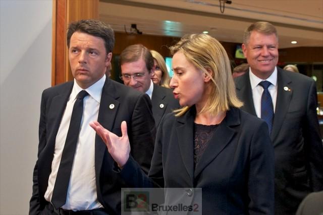 Renzi et Mogherini à la manoeuvre, entre égaux (crédit : CUE)