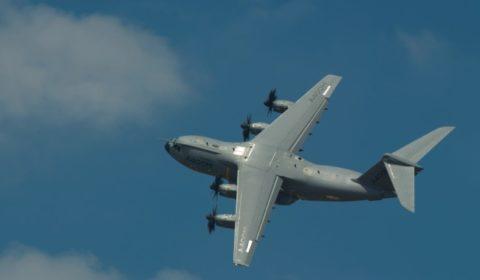 LA400M en démonstration au salon du Bourget (crédit : Airbus Military)
