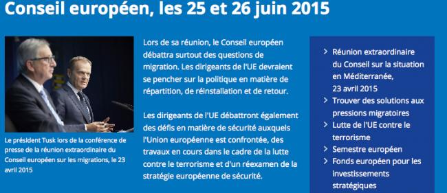 """L'annonce officielle du sommet sur le site du Conseil européen ne mentionne pas le mot défense, uniquement la terminologie """"sécurité"""", plus britanno-compatible."""