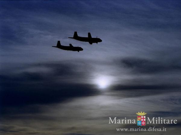 Avions de patrouille Atlantic en vols de reconnaissance (crédit : Marina Italienne)
