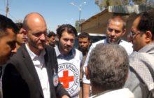 Cédric Schweizer à Dammaj en 2013 lors dune évacuation de blessés (crédit : CICR)