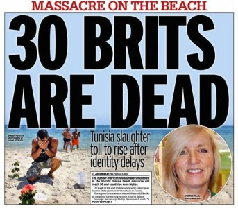 La couverture du Daily Mirror consacrée aux victimes de l'attentat de Sousse
