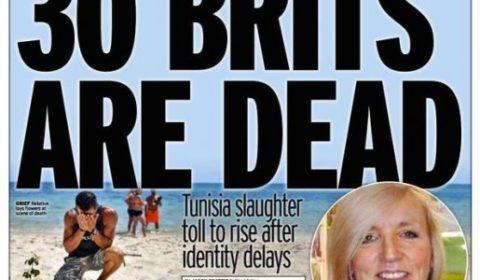 La couverture du Daily Mirror consacrée aux victimes de lattentat de Sousse