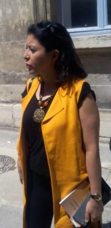 Leila Aichi à l'IHEDN (© NGV / B2)