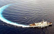 Le Godetia en mer Méditerranée (crédit : armée belge)