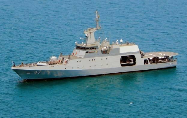 Un navire colombien engagé dans la lutte anti-pirates