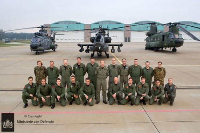 Un cours pour instructeurs Helico sur la base de Gilze-Rijen (crédit : MOD Pays-Bas)