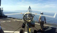 le Scan Eagle sur le pont du Galicia (crédit : marine espagnole)