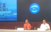 Fed. Mogherini et lamiral commandant lopération, Enrico Credendino