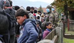 Arrivée de réfugiés en Slovénie (crédit : MOD Slovène)