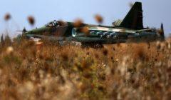 Un sukhoi russe en Syrie sur la piste (crédit : MOD Russie)