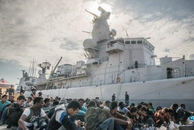 Quatre suspects arrêtés en Méditerranée par le Leopold Ier (maj)