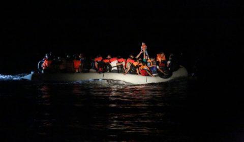 Lopération Poseidon au large de la Grèce (crédit : Frontex)