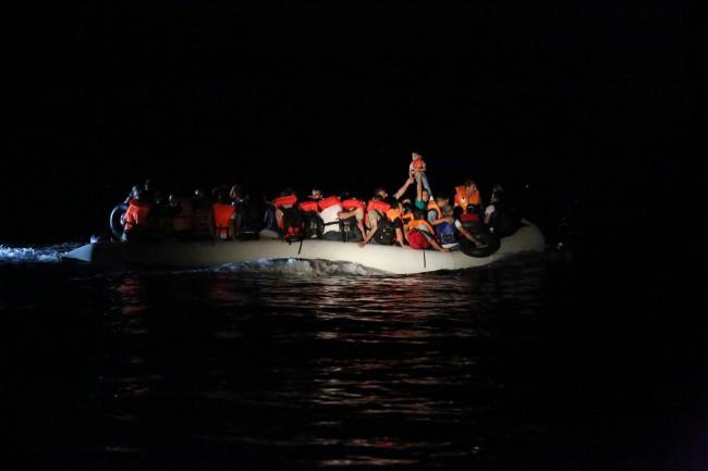 L'opération Poseidon au large de la Grèce (crédit : Frontex)