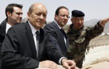 En Afghanistan, avec François Hollande, en 2012 (crédit : MOD France)