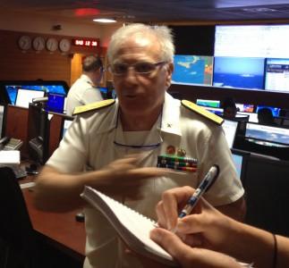Un passionné ! Le Contre-Amiral Safonaro estime que le temps est venu de se coordonner, d'agir, et de sauver des vies en mer, plutôt que de tergiverser (© NGV / B2)
