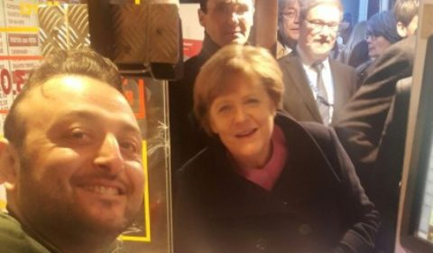 Angela Merkel à la Maison Antoine