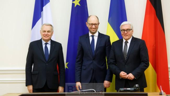 Ukrainiens, la balle est dans votre camp (Ayrault/Steinmeier)