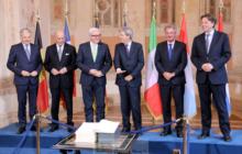 Les six ministres réunis à Rome (crédit : Ministère luxembourgeois des Affaires étrangères)