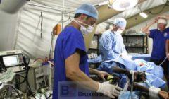 Elément de Sécurité Civile Rapide d'Intervention Médicale) est l'hôpital de Equipe Medicale de Escrim (hopital campagne projetable de la Sécurité Civile française) - Crédit : Escrim / CE