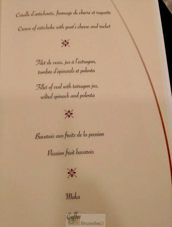 Le menu du sommet européen, tweeté par le Premier ministre maltais, Joseph Muscat