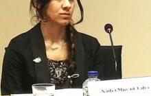 Nadia Murad Taha devant les parlementaires ce midi (© JB / B2)