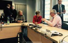 Réunion de crise à la Commission européenne (crédit : CE)