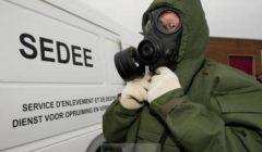 Un homme du service du déminage SEDEE (crédit : ministère belge de la Défense)