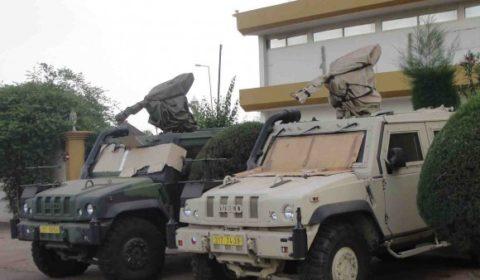 Véhicules tchèques de la force protection à Bamako (© NGV / archives B2 2013)