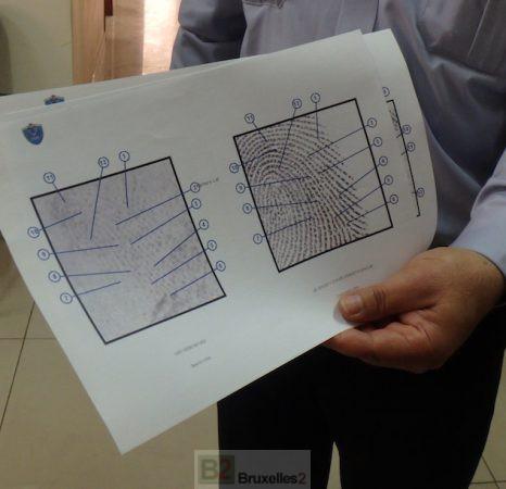 A Ramallah, l'unité de traitement des empreintes digitales