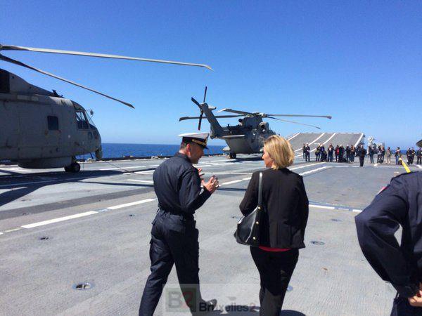 Mogherini à bord du Cavour : on peut être fier de la réaction européenne