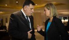 Rencontre de F. Mogherini avec F. Sarraj au Caire, novembre 2015 (crédit : CE - archives B2 )