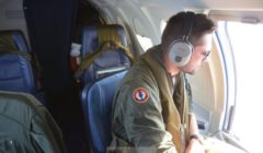 A bord du Falcon 50 (crédit : Marine nationale)